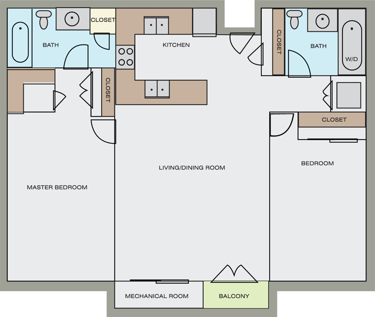 Floor plans pricing washington square apartments for 1100 sq ft apartment floor plan